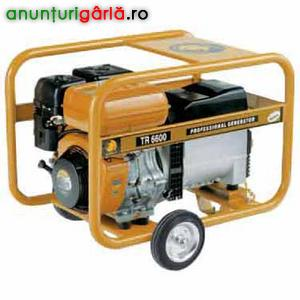 Imagine anunţ Inchiriez generator de curent pe benzina de 6.5 kw cu functie de sudura si alimentare 380/220v
