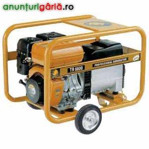 Imagine anunţ generator de curent pe benzina de 6.5 kw cu functie de sudura