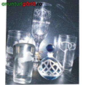 Imagine anunţ Sablare, Personalizare Obiecte din Sticla