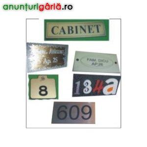 Imagine anunţ Signalectica, placute indicatoare