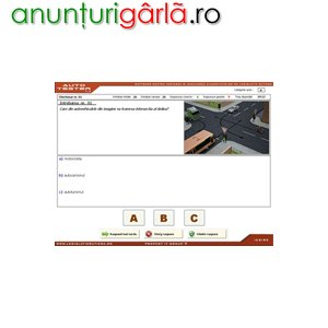 Imagine anunţ AUTO TESTER v.1.3 - Soft pentru SCOLI de SOFERI - Examinare cu TOUCH SCREEN