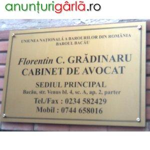 Imagine anunţ CABINET DE AVOCAT
