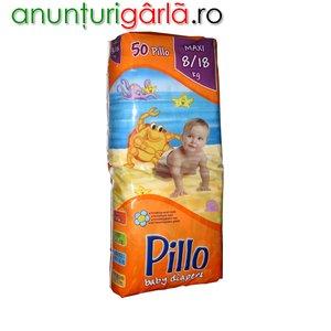 Imagine anunţ Vand scutece PILLO MAXI 8-18 kg, 50 buc/pachet, 37 ron/pachet
