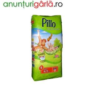 Imagine anunţ Vand scutece PILLO MIDI 4-9 kg, 60 buc/pachet, 39 ron/pachet