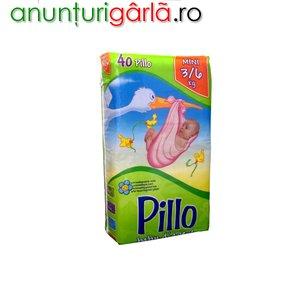 Imagine anunţ Vand scutece PILLO MINI 3-6 kg, 40 buc/pachet, 27 ron/pachet