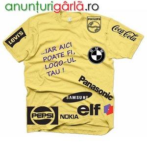 Imagine anunţ tricouri personalizari