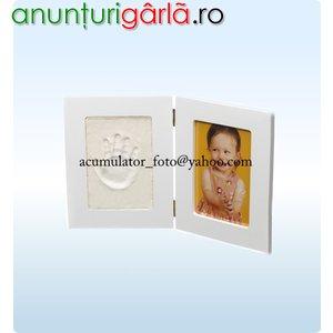 Imagine anunţ Rama foto amprenta manuta. Cadou botez nasi nou nascuti