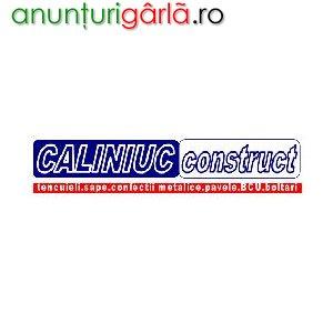Imagine anunţ pavele, boltari, BCU, confectii metalice, sape, tencuieli, termoizolatii