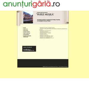 """Imagine anunţ Cabinet Avocatura"""" Vasile Musila"""" Bucuresti"""