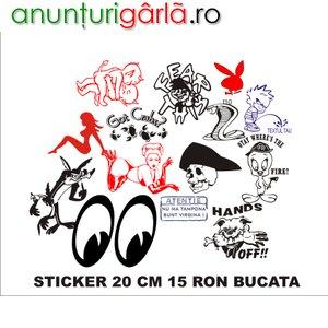 Imagine anunţ diferite stickere for fun autocolant oracal