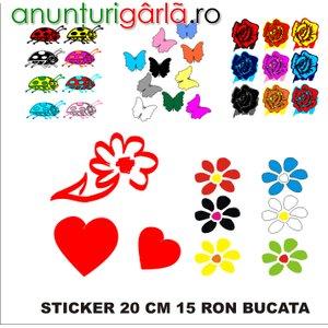 Imagine anunţ flori, fluturasi, inimioare, stelute autocolant oracal 651