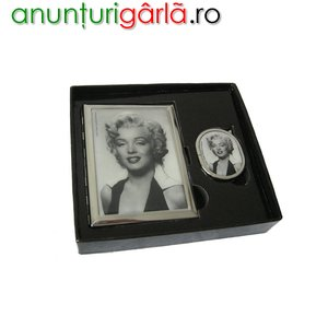 Imagine anunţ Cadouri femei - Set tabachera si bricheta Marilyn