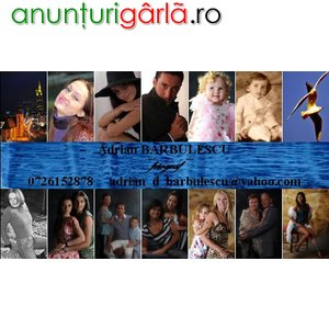 Imagine anunţ fotografie evenimente, portrete, arhitectura, produs, fotopanorame etc
