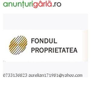 Imagine anunţ CUMPAR ACTIUNI FONDUL PROPRIETATEA