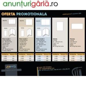 Imagine anunţ Oferta promotionala pliante