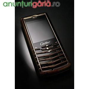 Imagine anunţ Cartier V8 Dual SIM Gold = model de lux - piele