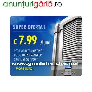 Imagine anunţ Gazduire Web Reseller Inregistrari Domenii Web Gazduire Site in Romania si Germania ieftin