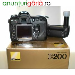 Imagine anunţ Nikon D200, 10.2 Megapixel SLR Digital Camera 400euro
