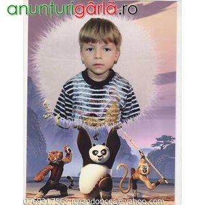 Imagine anunţ Pierdut baietel 5 ani