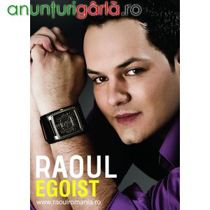 Imagine anunţ RAOUL EGOIST cel mai nou album
