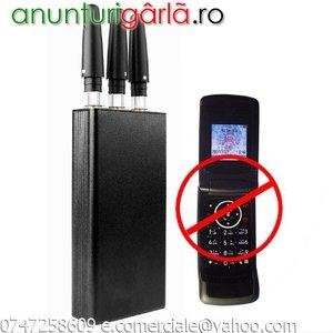 Imagine anunţ Bruiaj Telefon GSM GPS Jammer Portabil