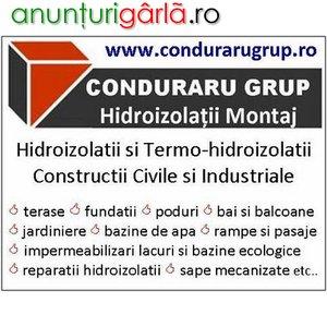 Imagine anunţ Hidroizolatii terase, Hidroizolatii fundatii