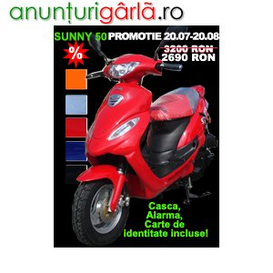 Imagine anunţ Mare promotie scutere 50cc fara permis