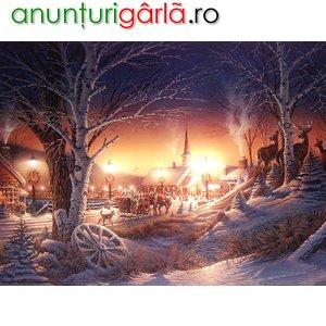 Imagine anunţ Peisaje de iarna pe panza