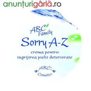 Imagine anunţ SORRY A-Z , 185 ml, tratament psoriazis, rezultate remarcabile