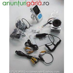Imagine anunţ Sistem Supraveghere Wireless Camera IR+Receiver LCD