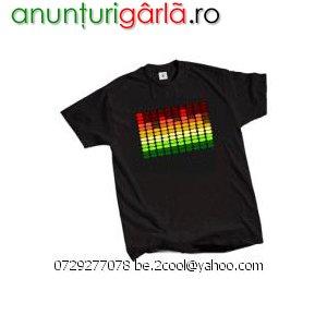 Imagine anunţ Tricouri cu egalizator (el-tshirt sound reactive)