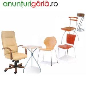 Imagine anunţ comercializam la comada scaune intr-o gama variata de culori si modele