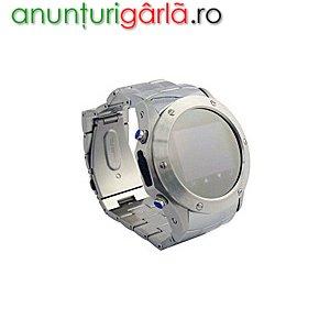 Imagine anunţ 620 lei, Telefon ceas metalic W968 la www.dualsim.ro