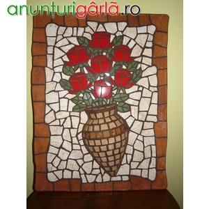 Imagine anunţ Cadou , tablou , flori , mozaic