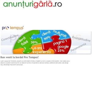 Imagine anunţ Pro Tempus - Web design si publicitate