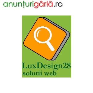 Imagine anunţ Servicii web design realizare pagini web SEO SEM publicitate internet