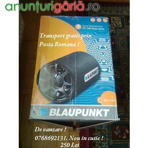 Imagine anunţ Vand Urgent Subwoofer Blaupunkt GTt 1200 Nou in cutie