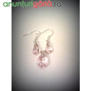 Imagine anunţ Set Swarovski 30 RON cercei pandantiv (mov, rosu, roz) Accesorii Bijuterii handmade