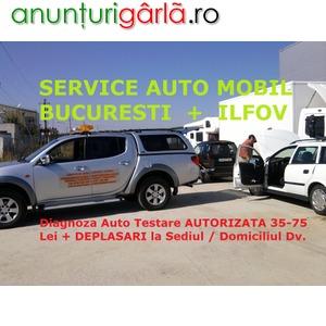 Imagine anunţ Diagnoza Auto Testare AUTORIZATA 35-75 Lei + Deplasari la Domiciliu Bucuresti / Ilfov
