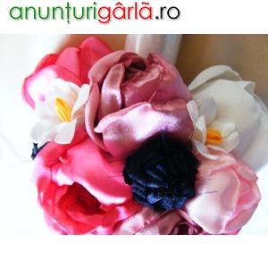 Imagine anunţ Aranjamente cu flori artificiale pt lumanari de botez