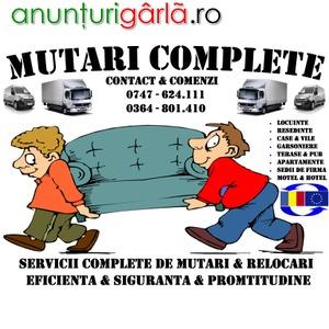 Imagine anunţ SERVICII COMPLETE DE MUTARI