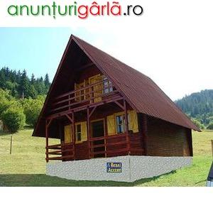 Imagine anunţ Case si cabane din lemn si pe structura de lemn