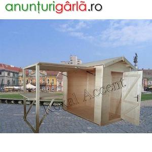Imagine anunţ Casute de lemn, Chioscuri lemn cu Taraba, Masa pliabila