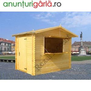 Imagine anunţ Casute lemn pentru targ, Chioscuri comerciale din lemn
