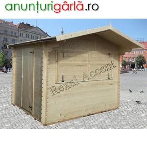 Imagine anunţ Chioscuri din lemn, Casute pentru piete, targuri