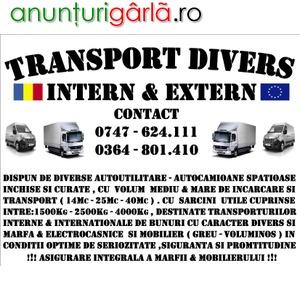 Imagine anunţ TRANSPORT DIVERS - INTERN & INTERNATIONAL