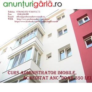 Imagine anunţ Curs Administrator imobile