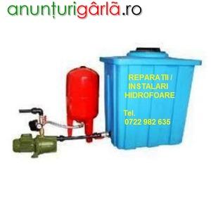 Imagine anunţ Reparatii Hidrofoare_instalatii sanitare, sector 2-3-4