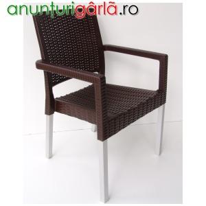 Imagine anunţ scaune terasa plastic imitatie ratan
