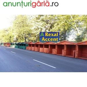 Imagine anunţ Casute de lemn, Standuri comerciale pentru targuri, balciuri